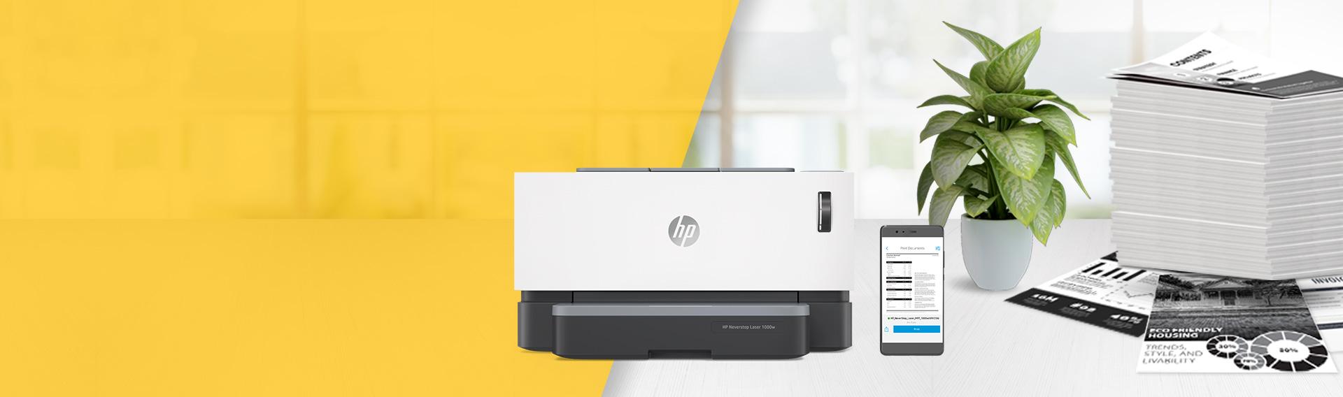HP Neverstop. Diseñada para imprimir grandes volúmenes a bajo costo.