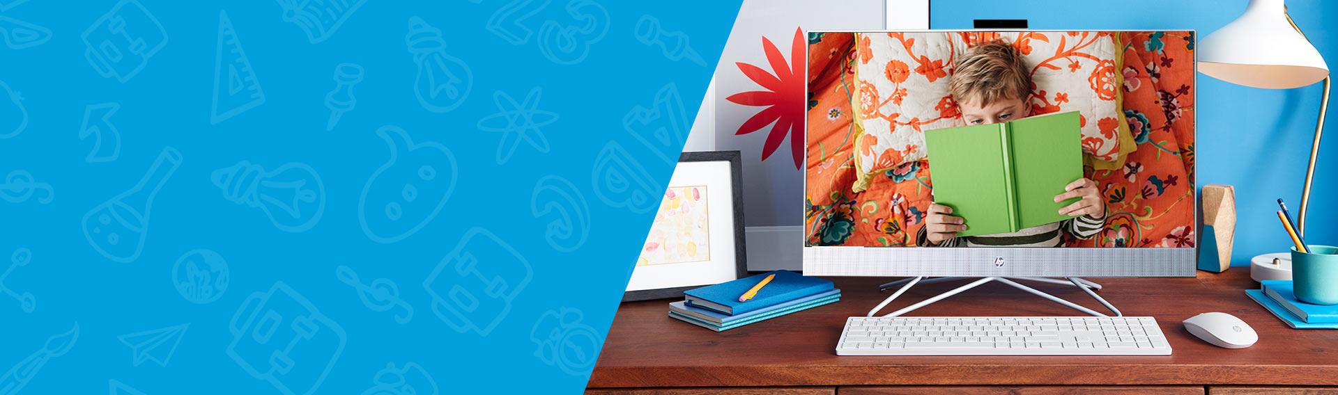 Todo-en-Uno HP 24-dd0017la equilibrio perfecto entre diseño y funcionalidad.