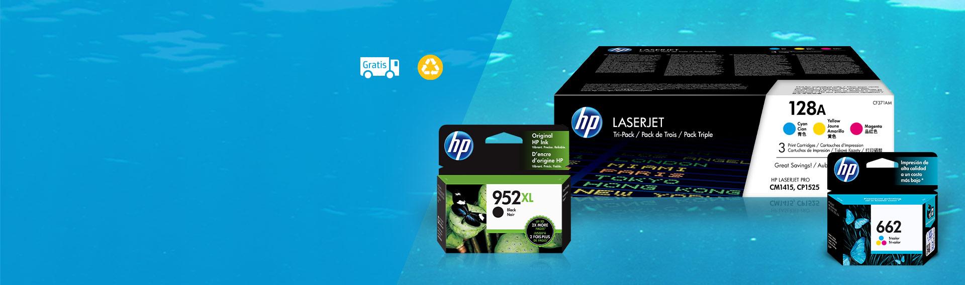 Cartuchos originales HP con hasta 10%* dcto.
