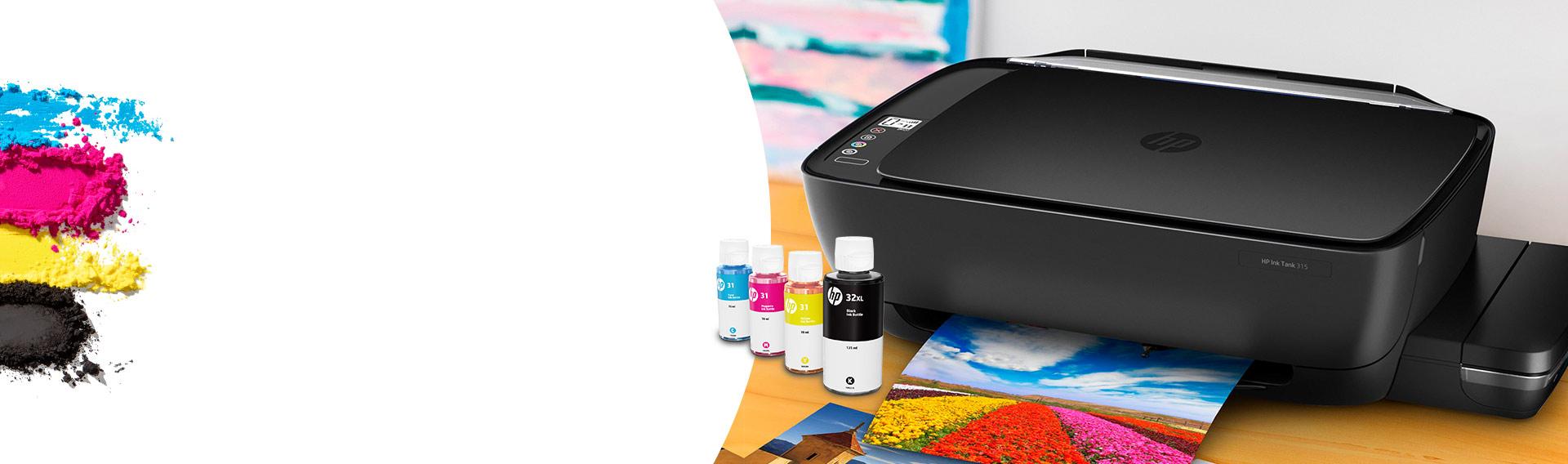 HP Ink Tank. Obtené 8.000 págs. a color o 6.000 pags. en negro. ¡A un costo muy bajo!