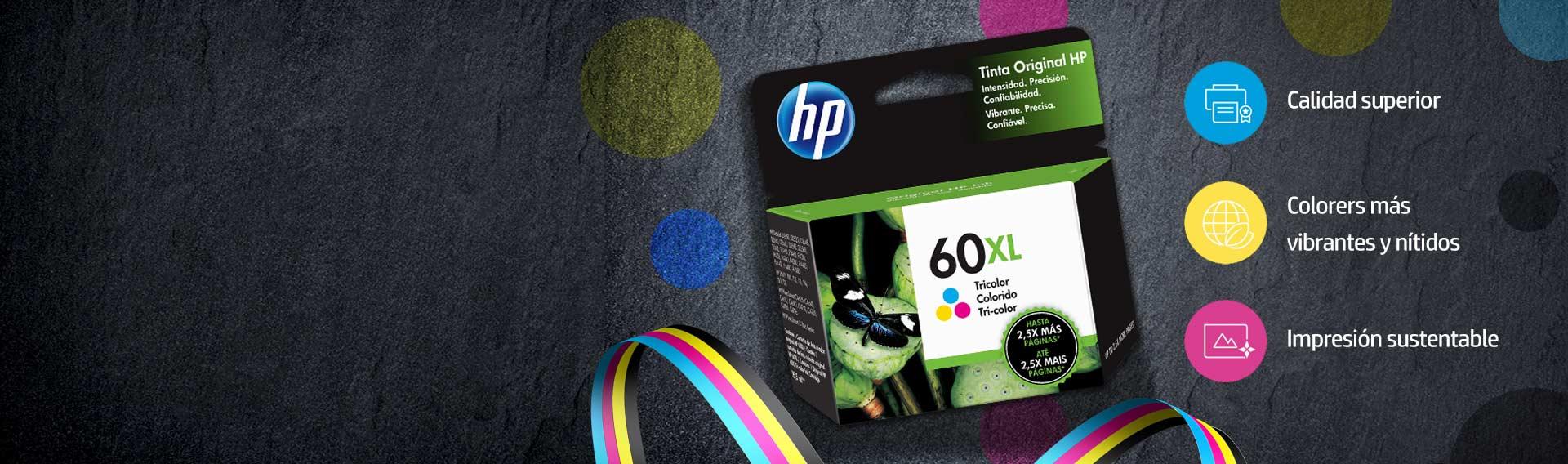 TINTAS Y TÓNERS ORIGINALES. ¡No te quedes sin tinta! Imprime con la calidad de HP.