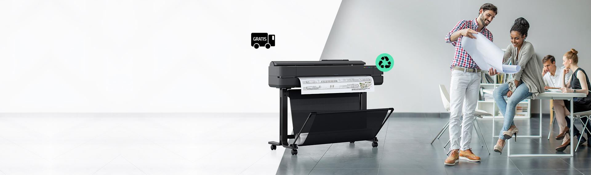 Nueva Serie HP Designjet. Los plotters más pequeños.
