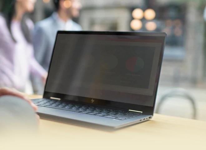 Pantalla de privacidad integrada | HP Elite Dragonfly