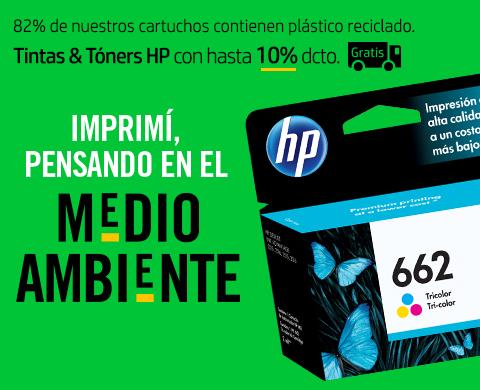 Tintas & Tóners HP con 10%* dcto. + Envío Gratis.