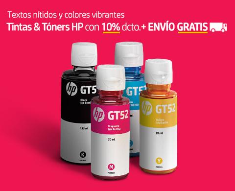Tintas & Tóners HP con 10%* dcto. + ENVÍO GRATIS