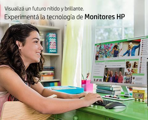 Visualizá un futuro nítido y brillante. Experimentá la tecnología de Monitores HP.