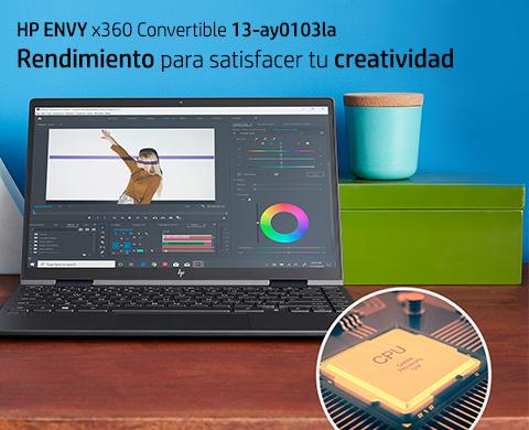 HP ENVY x360. Rendimiento para satisfacer tu creatividad.