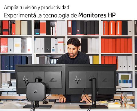 Experimentá la tecnología de Monitores HP.