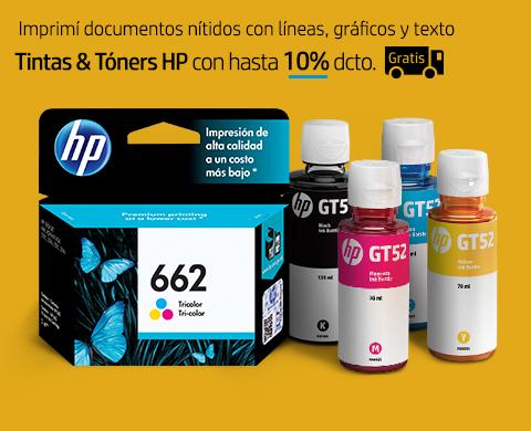 Tintas & Tóners HP con hasta 10%* dcto. + Envío Gratis