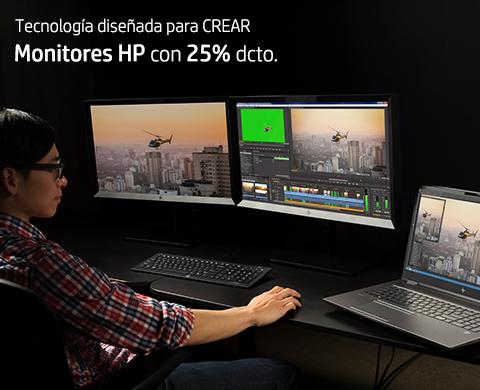 Monitores HP con 25% dcto.*
