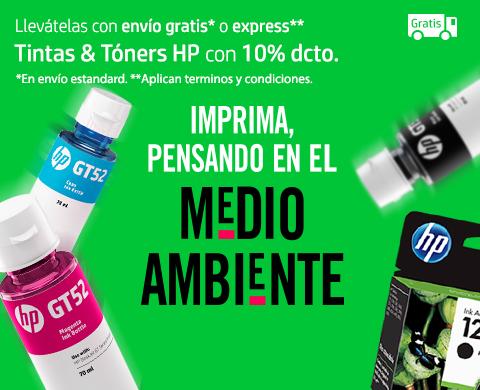Tintas & Tóners HP con 10% dcto. más envío gratis o express.