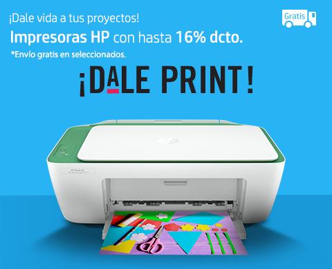 Impresoras HP con hasta 16%* dcto. más envió gratis en seleccionados.