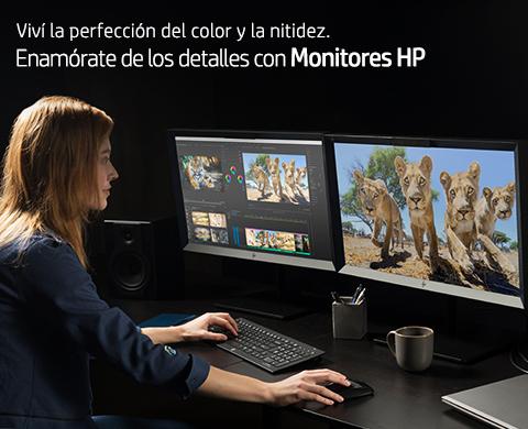 Viví la perfección del color y la nitidez. Enamoraté de los detalles con Monitores HP.