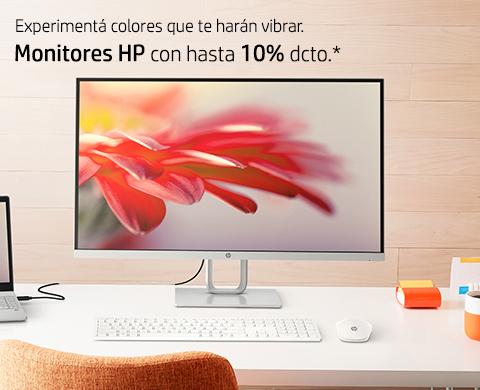 Monitores HP con hasta 10% dcto.*