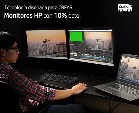 Monitores HP con 10% dcto.