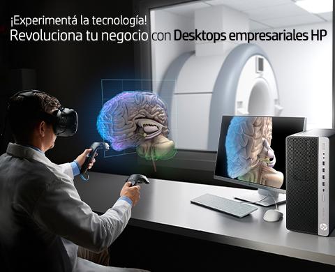¡Experimentá la tecnología! Revoluciona tu negocio con Desktops empresariales HP!