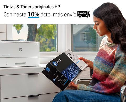 Tintas & Tóners originales HP. Con hasta 10% dcto. más envío Gratis*