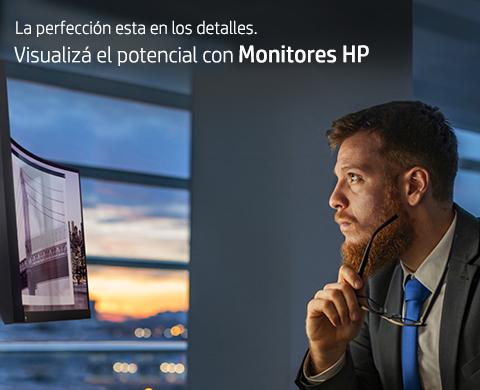 La perfección esta en los detalles. Visualizá el potencial con Monitores HP.