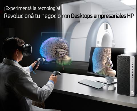 ¡Experimentá la tecnología! Revolucioná tu negocio con Desktops empresariales HP!