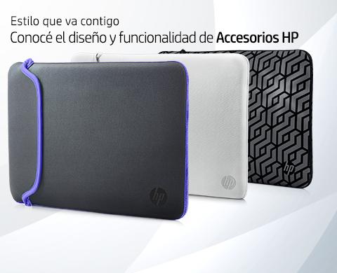 Estilo que va contigo. Conocé el diseño y funcionalidad de Accesorios HP.