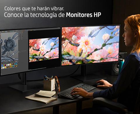 Colores que te harán vibrar. Conoce la tecnología de Monitores HP.