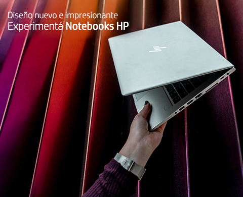 Diseño nuevo e impresionante. Experimentá Notebooks HP.