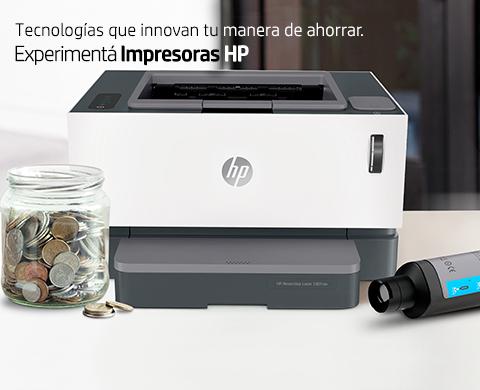 Tecnologías que innovan tu manera de ahorrar. Experimentá Impresoras HP.